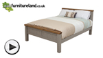 Watch Clermont Painted Rough Sawn Solid Oak King-Size Bed video