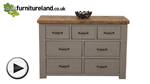 Watch Clermont Painted Rough Sawn Solid Oak 3+4 Chest of Drawers video