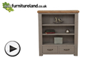 Watch Clermont Painted Rough Sawn Solid Oak Small Bookcase video