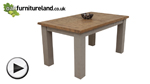 Watch Clermont Painted Rough Sawn Solid Oak 5ft x 3ft Small Extending Dining Table video