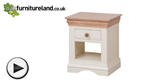 Watch Country Cottage Natural Oak and Painted Lamp Table video