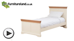 Watch Country Cottage Natural Oak and Painted 3ft Single Bed video