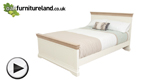 "Watch Country Cottage Natural Oak and Painted 4ft 6"" Double Bed video"