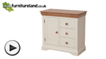 Watch Country Cottage Natural Oak and Painted Storage Cabinet video