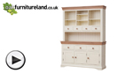 Watch Country Cottage Natural Oak and Painted Large Dresser video