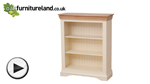 Watch Country Cottage Natural Oak and Painted Wide Bookcase video