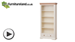 Watch Country Cottage Natural Oak and Painted Tall Bookcase video