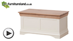 Watch Country Cottage Natural Oak and Painted Blanket Box video