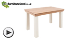 Watch Country Cottage Natural Oak and Painted 5ft Dining Table video