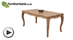 Watch Grace Solid Washed Oak 5ft 7 Solid Oak Dining Table video