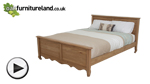 Watch Grace Solid Washed Oak King-Size Bed video
