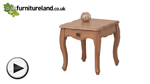 Watch Grace Solid Washed Oak Lamp Table video