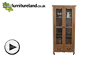 Watch Grace Solid Washed Oak Display Cabinet video