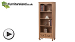 Watch Grace Solid Washed Oak Tall Bookcase video