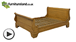 Watch Louis Philippe Solid Amber Mango 5ft King-Size Bed with High Footboard video
