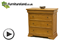Watch Louis Philippe Solid Amber Mango 3+1 Chest of Drawers video