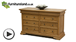 Watch Louis Philippe Solid Amber Mango 6+2 Large Chest of Drawers video