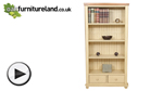 Watch Phoenix Shabby Chic Rustic Oak and Painted 2 Drawer Tall Bookcase video