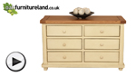 Watch Phoenix Shabby Chic Rustic Oak and Painted 6 Drawer Chest video