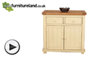 Watch Phoenix Shabby Chic Rustic Oak and Painted Small Sideboard video
