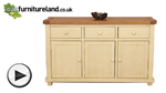 Watch Phoenix Shabby Chic Rustic Oak and Painted Large Sideboard video