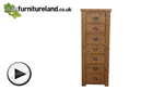 Watch Ripley Rough Sawn Solid Oak 7 Drawer Chest video