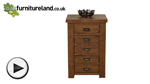 Watch Ripley Rough Sawn Solid Oak 5 Drawer Chest video