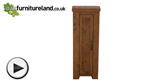 Watch Ripley Rough Sawn Solid Oak CD Storage video