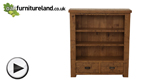 Watch Ripley Rough Sawn Solid Oak Small Bookcase video