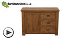 Watch Ripley Rough Sawn Solid Oak Small Sideboard video