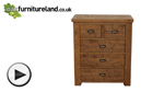 Watch Ripley Rough Sawn Solid Oak 2 + 3 Chest of Drawers video