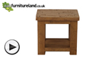 Watch Ripley Rough Sawn Solid Oak Lamp Table video
