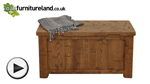Watch Ripley Rough Sawn Solid Oak Trunk video
