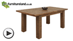 Watch Ripley Rough Sawn Solid Oak 5ft x 3ft Extending Table video