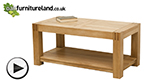 Watch Alto Natural Solid Oak Coffee Table video