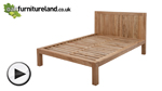 Watch Alto Natural Solid Oak 5ft King Size Bed video