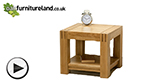 Watch Alto Natural Solid Oak Side Table video