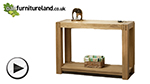 Watch Alto Natural Solid Oak Console / Hallway Table video