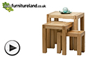 Watch Alto Natural Solid Oak Nest of Tables video