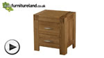 Watch Alto Natural Solid Oak Bedside Chest video
