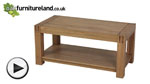 Watch Alto Solid Oak Coffee Table video
