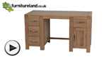 Watch Alto Natural Solid Oak Computer Desk video