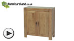 Watch Alto Natural Solid Oak HiFi / CD Storage / Media Cabinet video