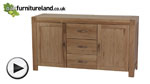Watch Alto Natural Solid Oak Large Sideboard video