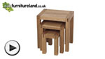 Watch Alto Solid Oak Nest of Tables video