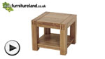 Watch Alto Solid Oak Side Table video