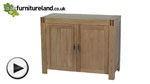 Watch Alto Natural Solid Oak Small Sideboard video