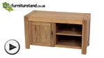 Watch Alto Natural Solid Oak TV + DVD Cabinet video