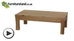 Watch Andorra Solid Oak Coffee Table video