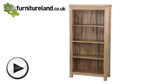 Watch Andorra Solid Oak Tall Bookcase video